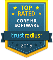 TrustRadius Top Rated Core HR Software Badge for 2015