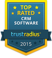 TrustRadius Top Rated CRM Software Badge for 2015