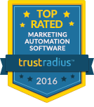 TrustRadius Top Rated Marketing Automation Badge for 2016