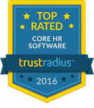 TrustRadius Top Rated Core HR Software Badge for 2016