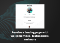 Each trainer receives a free landing page with a welcome video, testimonials section, and more.