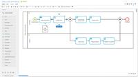Modeling a BPMN diagram using the web-based ARIS designer.