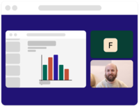 Easy screen sharing where you can see yourself and the presentation.