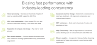 Avalanche offers blazing fast performance with industry-leading concurrency. Vector processing, CPU cache maximization, separation of compute and storage, zero penalty updates, advanced columnar storage, MPP architecture, and modern analytics