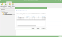 You can even restore the database to a specific transaction.