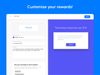 Personalize the redemption experience with campaign templates.