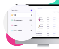 Send smarter, more targeted invites with advanced tag management & list building and bi-directional sync with Salesforce.