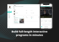 Build interactive fitness programs clients can follow from their mobile phones