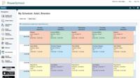 Parent view of student schedule