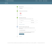 Create and manage teams and configure master recipes