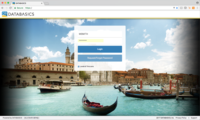 DATABASICS Time - Login Screen (desktop)