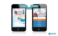 Boys & Girls Club of America's website on mobile devices before and after implementing MobileOptimize
