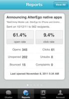 Mailchimp Mobile - Stay on top of your email campaign activity and effectiveness with Mailchimp's mobile reports.