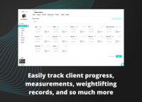 Track client progress, measure their success, and watch their growth right before your eyes.