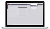 Sharing your screen with Drum Web Meetings. The block box can be stretched to fit the desired space.