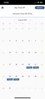 PTO calendar on mobile