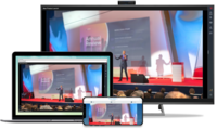 Join from any video-enabled room, computer, or mobile device. Easily access events on browsers without downloading an app.