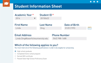 Student Information Sheet created with Laserfiche Forms