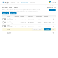 Create Employee cards or Utility cards with spend limits (e.g. $500/month)