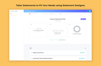 Tailor statements to fit your needs using Statement Designer .