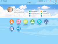 A simple, modern interface provides easy access to information across areas, personalized for each user.