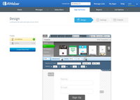 Build your list quickly with great looking sign up forms.