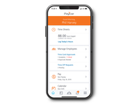 Paycor's mobile app allows employees to punch in and out from their phones