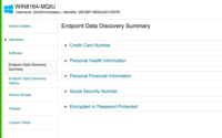 Endpoint Data Discovery Summary