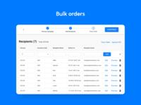 Upload a list of recipients and send rewards in bulk.