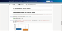 Data scientists can create visualizations within the Magellan Notebook and see it dynamically update as they write changes to it.