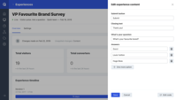 Using a Qubit Pro template to create a Visitor Pulse Survey to gather user information.