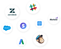 51+ One-click integrations to seamlessly unify data across tools and teams.