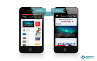 National Geographic's website on mobile devices before and after implementing MobileOptimize