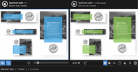 ConceptShare version comparison - Reviewers can see their changes in action with side-by-side, down to the pixel version comparison.