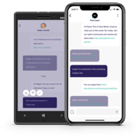 Jobvite Intelligent Messaging allows you to make a good first impression by meeting candidates where they are – on the phone that's always in their pocket.