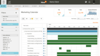 Organize marketing plans, campaigns, and tactics in a filterable calendar view.