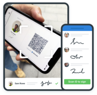 Instant and contactless e-signatures