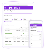Our software is a responsive design, so there is no need to download and maintain a separate payroll app. Run payroll on any device with internet or data connection.
